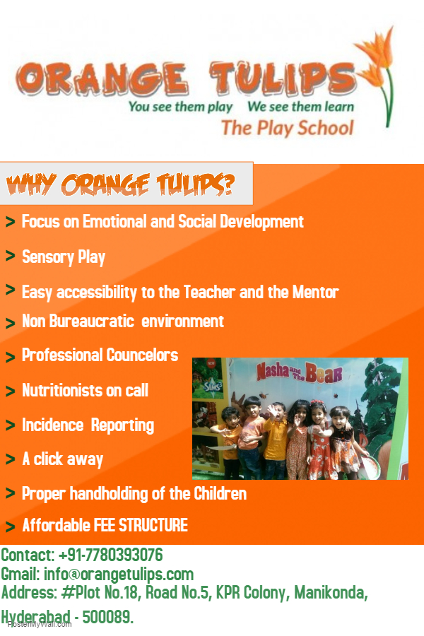 Orange Tulips - The Play School-SchoSys.com